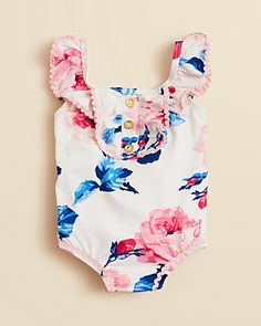Floral Swimsuit #baby #prints #trends #style #outfits for #Summer SO cute!!!!!!