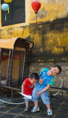 Kids playing in Hoi An, Vietnam