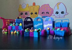 Shopkins Party Favor Bags by LuvBugBoutique14 on Etsy