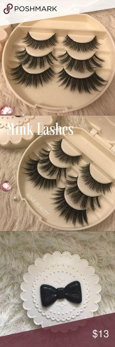 Mink lashes + Eyelash Case All brand new include ✨3 kinds of Wispy eyelashes  ✨Eyelash Case   +$2 Add on eyelash Applicator  +$3 Add on eyelash glue Please message me if you want to add them.    # tags Iconic, mink, red cherry eyelashes, house of lashes, doll, kawaii, case, full, natural,  Koko, Ardell, wispies, Demi , makeup, mascara, eyelash applicator, Mykonos Mink , Lashes , wispy ,eyelash case, mink lashes, gift, eyelash gift, eyelash glue  Ship within 24 hours ❣️ Makeup False Eyelashes
