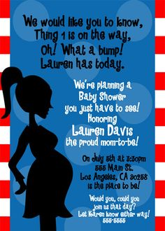 Check out our dr seuss baby shower invitations selection for the very best in unique or custom, handmade pieces from our shops. Dr Suess Baby, Dr Seuss Baby Shower, Baby Boy Shower, Baby Shower Gifts, Baby Gifts, Baby Shower Themes, Baby Shower Decorations, Shower Ideas, Baby Shower Announcement