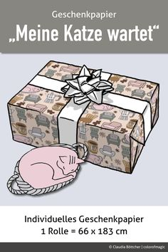 Dieses individuell gestaltete Geschenkpapier ist toll für Poster, Geschenkboxen oder -taschen und Umschläge. Auch geeignet für Scrapbooking, Decoupage und alles, was man mit Papier sonst noch so anstellen kann.  #spoonflower #Muster #Design #Geschenkpapier#papelderegalo #hygge #scrapbooking #decoupage #basteln#colorofmagic