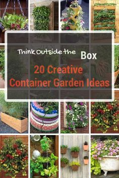 20 Inspirational ideas to get you going with container gardening this year. #container #gardening #space #save