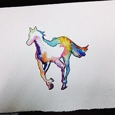 Preparando para el lunes... #watercolor #tattoo  #scketchtattoo #painting #witheponny #raibown