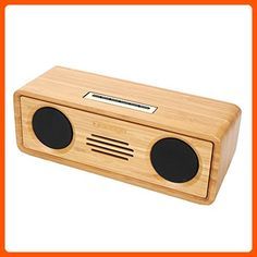 Sengu SG-S812-N Handmade Bamboo Portable Multimedia Wireless Bluetooth Speakers - Audio gadgets (*Amazon Partner-Link)