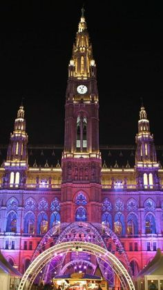 City Hall, Vienna, Austria, the beautiful city of Wien where Dancer Against Cancer takes place.