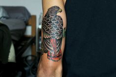 Traditional Red-Tailed Hawk tattoo