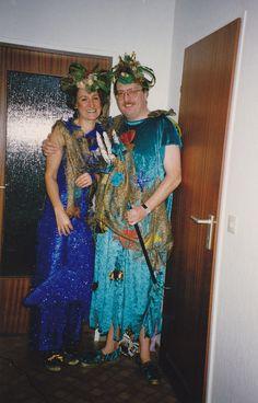 Meerjungfrau und Wassermann - tolle Kostüme die wir selbst genäht haben