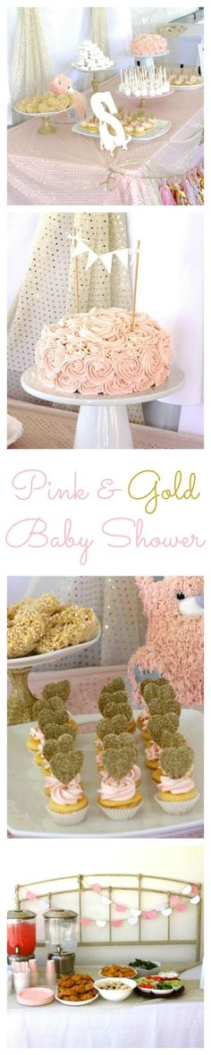Pink and Gold Baby Shower - Food, decoration, and game ideas for a beautiful baby shower! | http://www.sincerelyjean.com