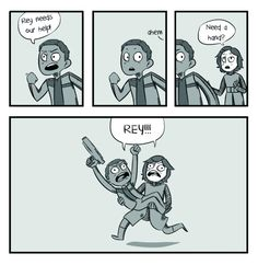 I will now be disappointed if Kylo's redemption arc does noy include this