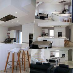 Idée relooking cuisine  Modèle ARECAS laque blanc brillant plan de travail en quartz blanco zeus.