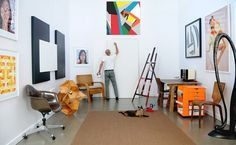 Bryce Hudson in his studio