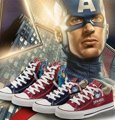 limited edtion converse captain america shoes