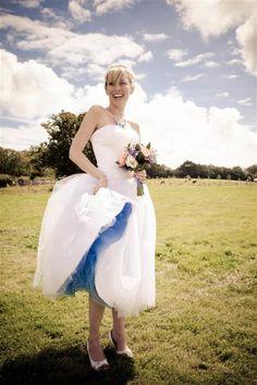 quirky 50s wedding dress blue, image by http://kerryannduffy.com/