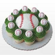 Golf balls instead of Baseballs? cake with 10 cupcakes Golf Cupcakes, Baseball Cupcakes, Cute Cupcakes, Cupcake Cakes, Baseball Birthday Cakes, Food Decoration, Decorations, Amazing Cakes, Cake Decorating