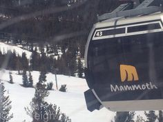 Ride the gondola to the top of Mammoth Mountain. CA