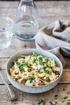 Lekker frisse salade met kip en bleekselderij #paleo #paleorecepten #gezond #gezonderecepten