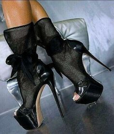Women Sexy Peep Toe Hollow Out Strappy Stiletto Super high heels Nightclub Shoes - GP - High Heels Boots, Hot High Heels, Platform High Heels, Sexy Heels, High Heels Stilettos, Black Ankle Boots, Heeled Boots, Pumps, Calf Boots