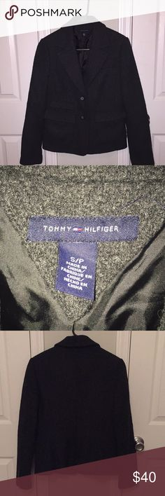 Tommy Hilfiger blazer SZ S/P Great used condition.see all photos.charcoal gray color. Tommy Hilfiger Jackets & Coats Blazers
