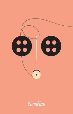 Coraline (2009) ~ Minimal Movie Poster by Angela Skinner #amusementphile