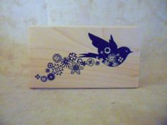 Bird Trailing Flowers Rubber Stamp by by FlourishingAgain on Etsy, $6.00