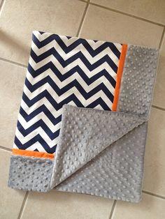 Hey, I found this really awesome Etsy listing at http://www.etsy.com/listing/176248381/baby-blanket-navy-chevron-grey-minky-dot