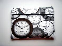 156 inch Laptop Sleeve Pocket Clocks Handmade Babimini by Babimini, €34.00