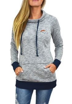 Denver Broncos Womens Cowl Neck Sweatshirt