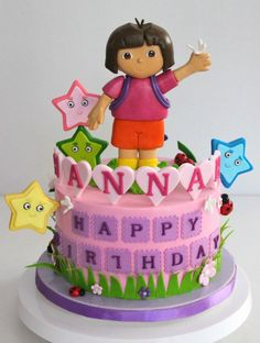 Pin by The Custom Piece of Cake on Dora the explorer cakes and