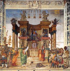 Filippino Lippi – St Philip Driving the Dragon from the Temple of Hieropolis, 1487-1502, Fresco, Strozzi Chapel, Santa Maria Novella, Florence