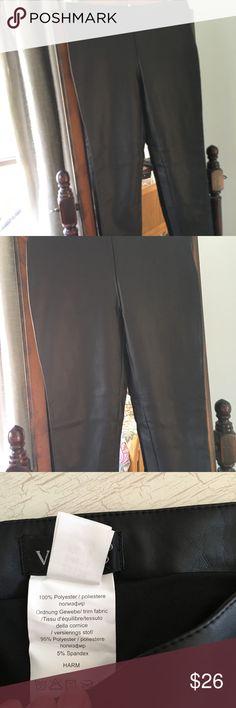 "Venus leather look pants size 2 Side zip and half lined, Never worn. Waist 29"" inside leg 28"" VENUS Pants"