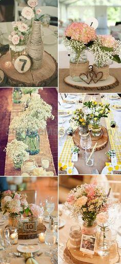 country rustic burlap lace wedding centerpiece ideas #weddings #wedding #marriage #weddingdress #weddinggown #ballgowns #ladies #woman #women #beautifuldress #newlyweds #proposal #shopping #engagement