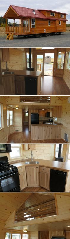 Classic double loft: a two bedroom park model cabin tiny house living, Tiny Cabins, Tiny House Cabin, Tiny House Living, Tiny House Plans, Tiny House Design, Tiny House On Wheels, Cabin Homes, Log Homes, Small Living