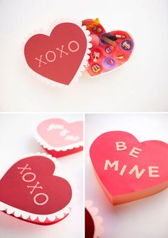 Valentine's Day Paper Heart Boxes