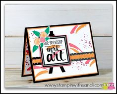 Stampin Up Painter's Palette Sneak Peek card by Sandi @ www.stampinwithsandi.com. Created with the Painter's Palette and Swirly Bird Stamp Sets