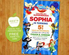 DC Superhero Girls Invitation DC Superhero Girls by AppleInvites