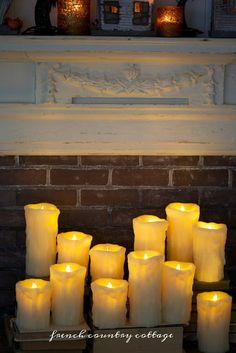 Wax drip pillar cand