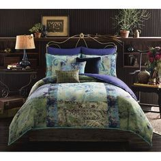The Tracy Porter Poetic Wanderlust Skye Reversible Comforter Set beautifully exhibits her free-spirited style with its rich color palette and sophisticated, eclectic prints. This exquisite comforter set includes a reversible comforter and pillow shams. King Comforter Sets, Duvet Sets, Duvet Cover Sets, Queen Duvet, Bed Covers, Boho Chic Bedding, Tracy Porter, Stylish Beds, Bedding Collections