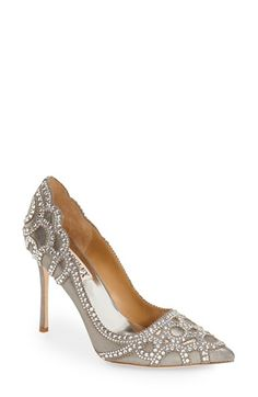 Badgley+Mischka+Badgley Mischka 'Rouge+II'+Crystal+Pointy+Toe+Pump+(Women)+available+at+#Nordstrom