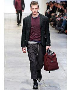 Men's Trends: Burgundy: Costume National Fall/Winter 2012-13