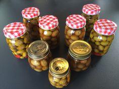 Jar of green olives Olives, Jar, Foods, Green, Food Food, Jars, Vase