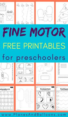 Fine motor skills worksheets and printables for preschoolers