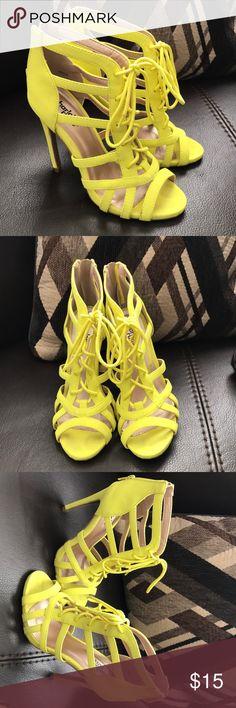 Women's  Heels Charlotte Russe Neon Yellow Style Glee Charlotte Russe Shoes Heels