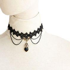 Vintage Fashion and Lifestyle Creazy® New Handmade Gothic Retro Vintage Women Lace Collar Choker Necklace Check more at http://secretofdiva.com/product/creazy-new-handmade-gothic-retro-vintage-women-lace-collar-choker-necklace/