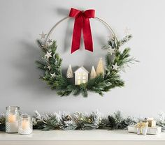 the link for more DIY Christmas projects . - Click the link for more DIY Christmas projects -Click the link for more DIY Christmas projects . - Click the link for more DIY Christmas projects - Christmas Fireplace, Noel Christmas, Diy Christmas Wreaths, Burlap Christmas, Home Decor For Christmas, Chritmas Diy, Christmas Wresth, Rustic Christmas Crafts, Diy Christmas Village