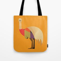 Emu // Tote Bag // This is part of a Wildlife of Australia series which also includes Kangaroo, Wombat, Koala and Platypus // Nursery Animal, Australian Art Print, Australian Animal, Animal Fashion, Australian Wildlife, Animals Nursery, Wombat Illustration, Retro Animal, Mid-century Animal, Animal Illustration, Australian Art, Quirky Tote Bag, Australian Kids Poster, Kids Art Print, Nursery Art Print, Apparel, Fashion wear, Animal Bag