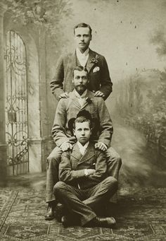 you58: back-then: Three cousins: Ernst of Hesse and By Rhine, Prince George of England, and Alfred of Saxe Coburg.