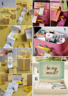 what a fantastic idea for asking a friend or loved one to be your maid of honor!  Love it!