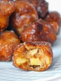 Homemade Apple Fritters -~ for ALL the cinnamon lovers out there who also happen to love a good, juicy, and crisp apple, this recipe was MADE for you! .. ,,