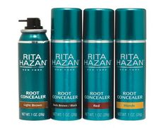 Rita Hazan Root Concealer is a temporary aerosol spray that's both water and sweat-resistant and won't stain your face, clothing or bed linens, but will cover your gray roots in-between salon visits.